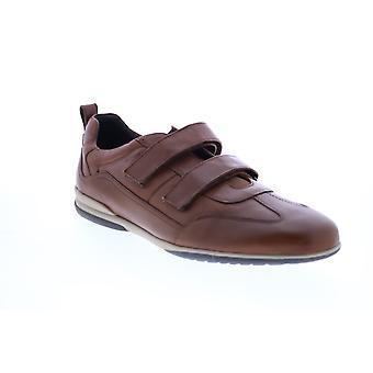 Geox U Timothy Herren Braun Leder Euro Sneakers Schuhe