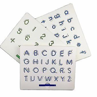 Magnetische Zeichnung Board, Alphabet Brief Verfolgung, pädagogische Briefe, lesen,