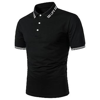 Short Sleeve Polo Shirt Contrast Color Summer Streetwear Casual Fashion Tops