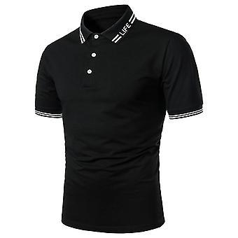 半袖ポロシャツコントラストカラーサマーストリートウェアカジュアルファッショントップス