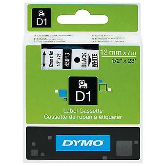 DYMO S0720530 D1 Tape 12mm x 7m Black on White.