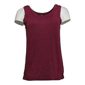 Cuddl Duds Women's Top Softwear Stretch Reversible Scoop Tank Red A293078
