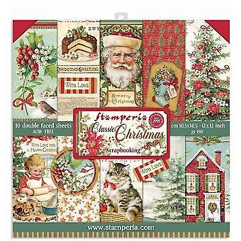 Stamperia Classic Boże Narodzenie 12x12 calowy papier pack