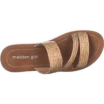 Madden Girl Womens Press Fabric Open Toe Casual Slide Sandals