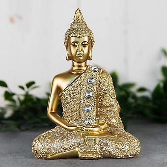 Widdop & Co. Guld Sittande Thailändsk Buddha 17cm