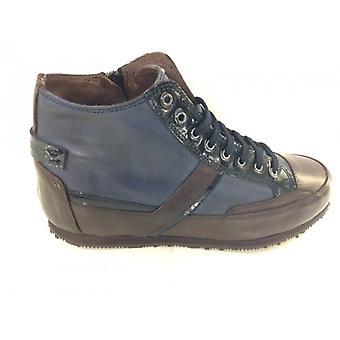 Galizio Torresi Naisten kengät Kiila Sneaker sinisessä nahassa ja Moro D15gt01
