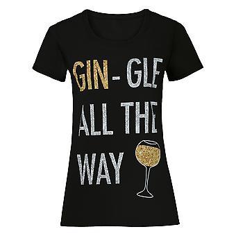 Christmas Shop Womens/Ladies Gin-gle All The Way Short Sleeve T-Shirt