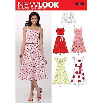 New Look Sewing Pattern 6886 Misses Dresses Size A (8-10-12-14-16-18)