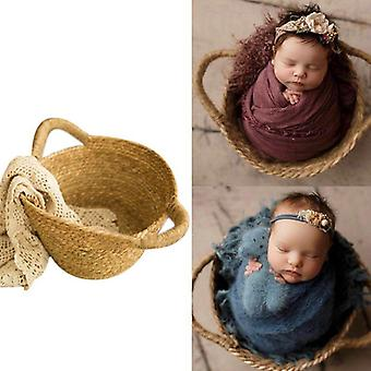 Creative New Newborn Photo Shooting Basket Baby Full Moon Photography Props