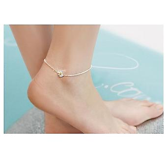 925 Sterling Silver Women Anklets Jewelry Daisy Flower Anklets Jewelry
