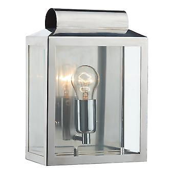 DAR NOTARY Lanterne Rectangle Mur Lumière Acier inoxydable IP44