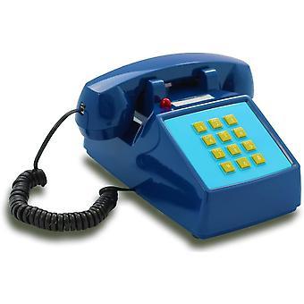 Wokex OPIS PushMeFon Kabel: 1970er Retro-Tastentelefon in modernen Farben mit elektronischer Klingel