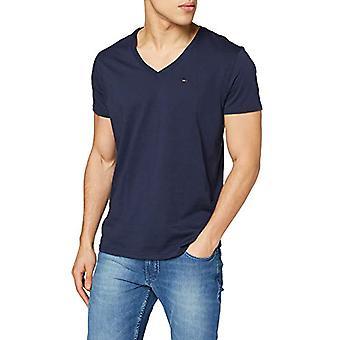 Tommy Jeans Camiseta original, Azul (Iris negro 002), X-Large Hombres