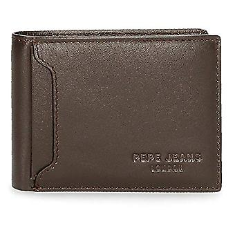 Pepe Jeans Dark Wallet Brown 11x8x1 cms Leather