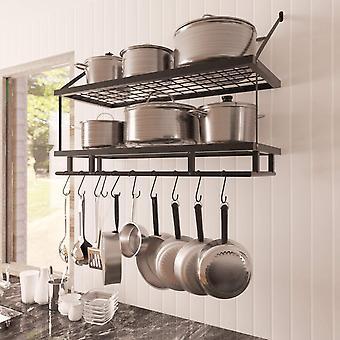 FengChun von Amazon Topf Rack Halter Veranstalter Wandhalterung 30-Zoll 75 cm hängende Topf Pfanne Rack Küche