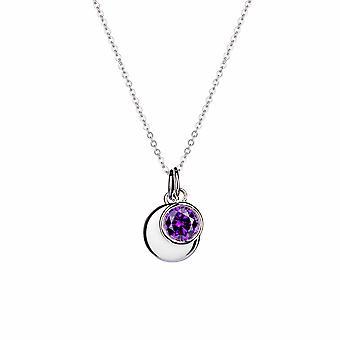 Février Pendentif en pierre de naissance améthyste - Prolongateur 40cm + 3cm - Cadeaux de bijoux pour femmes de Lu Bella