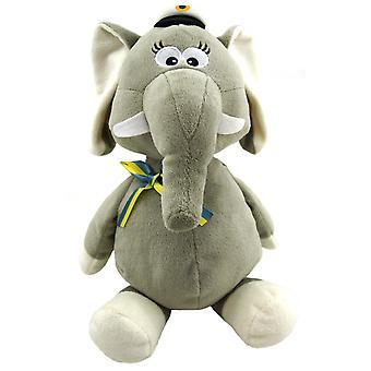 Student Elefant Grå med band H34 cm