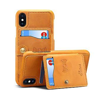 Slot per carte custodia in pelle portafoglio per iphonex/xs khaki pc207