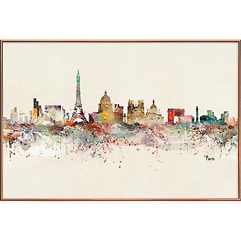 JUNIQE Print - Paris - Paris Plakat i Brown & Farverige