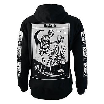 Darkside - DEATH TAROT - Heren Fleece Rits Trui Hoodie