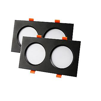 2 Pack LED recessed downlight ceiling light, 5W spotlight, 2 square integrated downlight,
