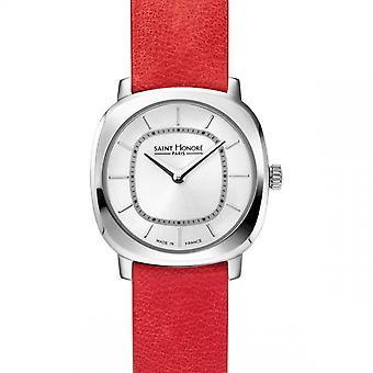 Women's Watch Saint Honor Paris AUTEUIL Mini - 7170901AIN-R Red Leather Strap