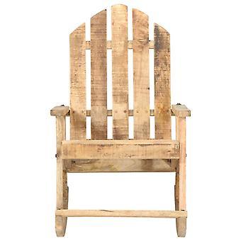 vidaXL Garden Rocking Chair Solid Wood Mango