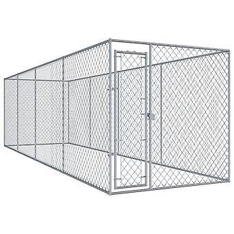 vidaXL Buiten hondenkennel 760x192x185 cm
