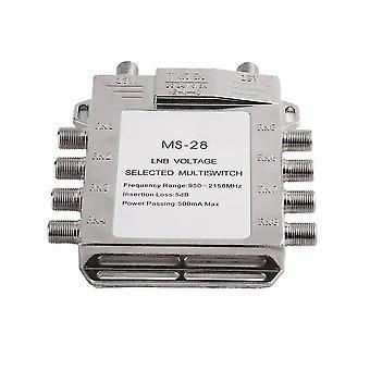Pour Jasen JS-MS28 2 en 8 Diseqc Switch Satellite Multiswitch Satellite Antenne Plat LNB Switch WS36987