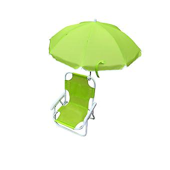 כיסא מחנה ילדים לתינוקות חוף עם מטריית נשיאה (ירוק)