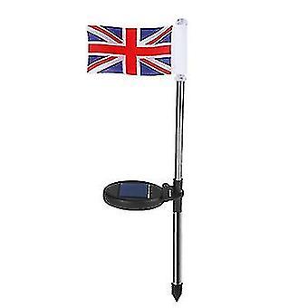 LED Solar Flag Light, Vedenpitävä puutarhakoristevalo, Puutarhan nurmikkovalo (Britannian lippu)
