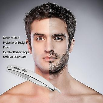 Mannen rechte barber edge stalen scheermesjes vouwen scheermes met 10 stuks messen