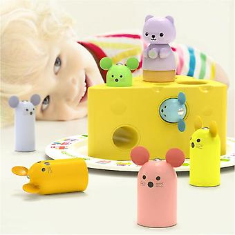 Cat And Mouse Game Cheese Maze Children's Toys Early Education Fun Interaction For Toddler Boys Girls 4-10 Years Old