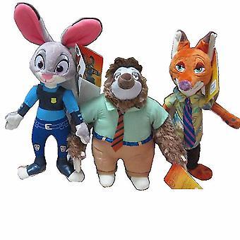 3pcs Plüsch Spielzeug Zootopia Puppe Judy Hopps Fuchs