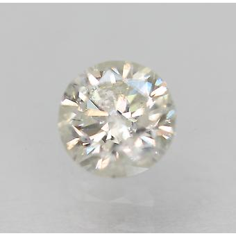 Certified 0.40 Carat F Color SI3 Round Brilliant Natural Loose Diamond 4.65m 3VG