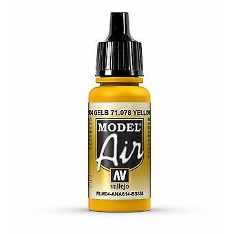 Vallejo Model Air 78 Yellow RLM04 - 17ml Acrylic Airbrush Paint