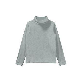 Name-it Plain Boys Roll krage Tshirt Grey Melange