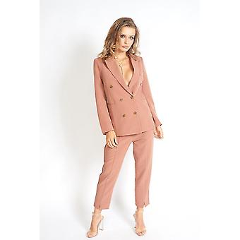 Womenins Fit Double Breasted Blazer