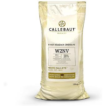 Callebaut W2NV White Chocolate Easi - Melt Buttons Callets 10Kg