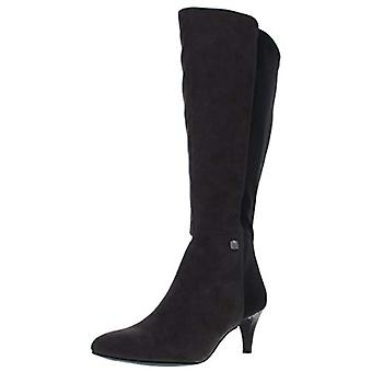 Alfani Womens Hakuu Wide Calf Faux Suede Dress Boots