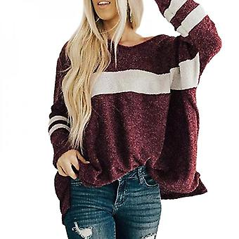 Women Long Sleeve Knit Sweater Baggy Pullover Jumper Casual Tops