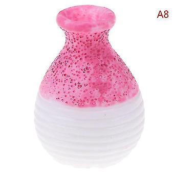1/2/5/6Pcs/lot schattige vintage porseleinen bloempot vaas pot 1:12 schaal handgemaakt poppenhuis miniatuur
