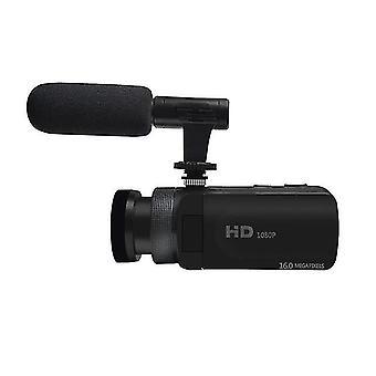 Videokamera videokamera mikrofonnal videosky fhd 1080p 16mp vlogging youtube kamerák 16x digitális