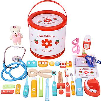 28pcs Doctor Medical Kit Pretend Play Toys Dentist Role Playset