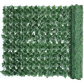 Artificial Ivy Fence Screening Artificial Hedges Panels Roll, Trellis With Artificial Leaves Garden Privacy Screens Decorative Fences For Garden Balco