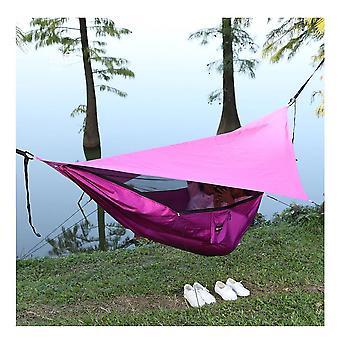 屋外の防蚊防湿ハンモックテントシングルとダブルアンチロールオーバー屋内スイング290 * 140cm