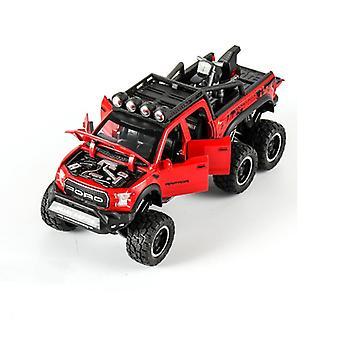 1:24 Legerad bilmodell Elektroniskt ljud och lätt dra tillbaka leksaksbilsmodell