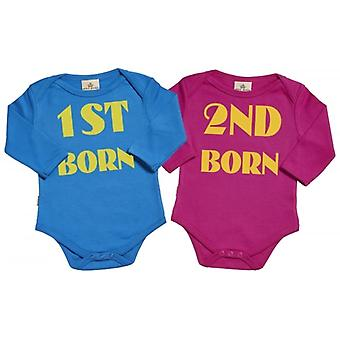 Spoilt Rotten 1st Born 2nd Born & Babygrow Twins Set
