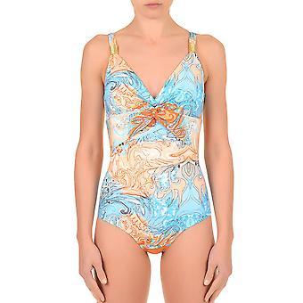 David DA7-077 kvinders Deco Orange og blå forme badedragt