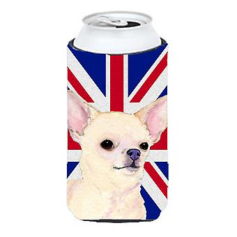 Chihuahua with English Union Jack British Flag Tall Boy Beverage Insulator Hugge